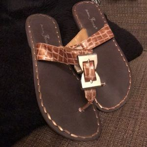 Brown buckle sandals New